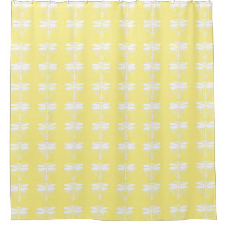 Canary Arts and Crafts Dragonflies Shower Curtain