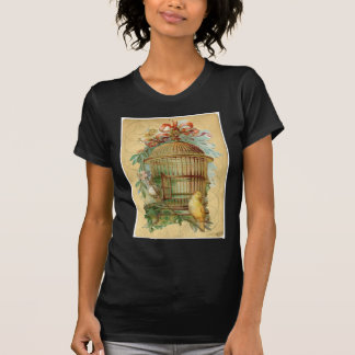 Canary Bird Cage Victorian T-Shirt