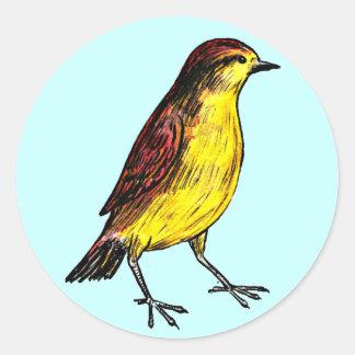 Canary Bird Classic Round Sticker