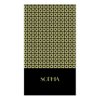 Canary Elegant Patterned Professional Pack Of Standard Business Cards