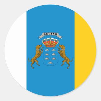 canary island flags round sticker