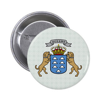 Canary Islands Coat of Arms detail 6 Cm Round Badge