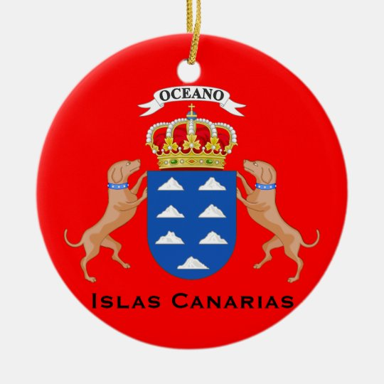 Canary Islands Cutom Christmas Ornament