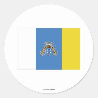 Canary Islands Flag Classic Round Sticker