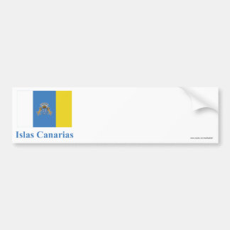 Canary Islands Flag with Name in Spanish Bumper Sticker