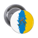 Canary Islands Gnarly Flag Button
