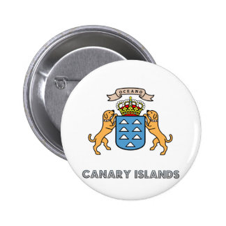 Canary Islands High Quality Coat of Arms 6 Cm Round Badge