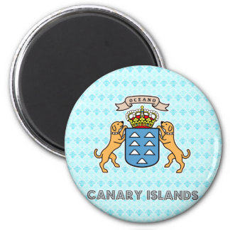Canary Islands High Quality Coat of Arms 6 Cm Round Magnet