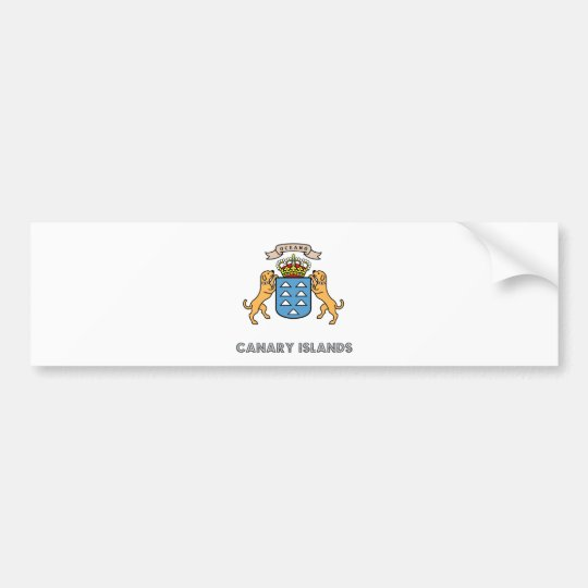 Canary Islands High Quality Coat of Arms Bumper