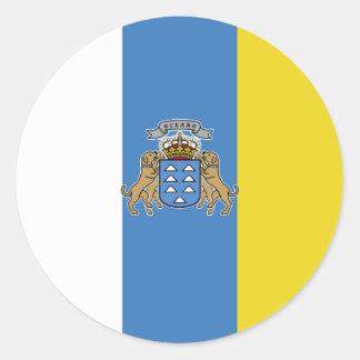 Canary Islands High quality Flag Classic Round Sticker