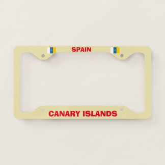 Canary Islands License Plate Frame