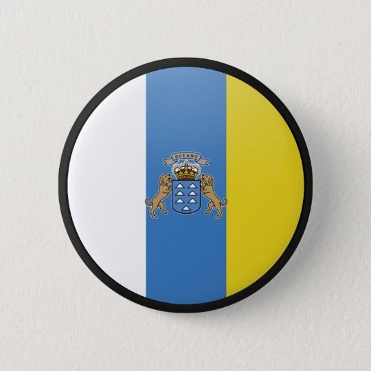 Canary Islands quality Flag Circle 6 Cm Round