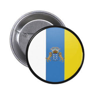 Canary Islands quality Flag Circle 6 Cm Round Badge