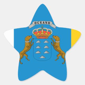 Canary Islands (Spain) Flag Star Sticker