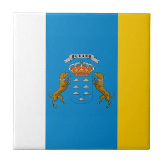 Canary Islands (Spain) Flag Tile