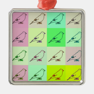 Canary Pop Art Christmas Ornament