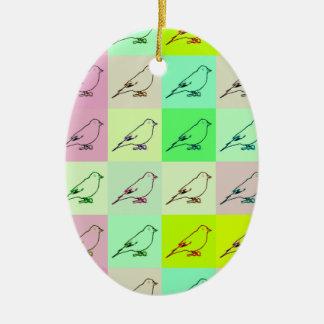 Canary Pop Art Christmas Ornament