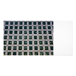 Canary Wharf  Abstract Customized Photo Card