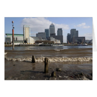Canary Wharf from the Thames beach at Rotherhithe Card