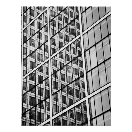 Canary Wharf London Abstract Poster