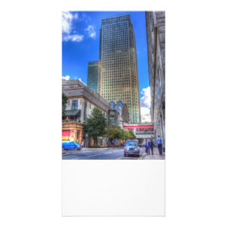 Canary Wharf London Customized Photo Card