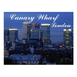 Canary Wharf, London Postcard