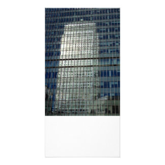 Canary wharf Reflection Custom Photo Card