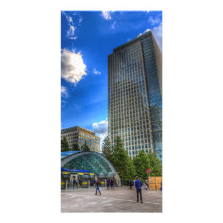 Canary Wharf Station London Photo Greeting Card