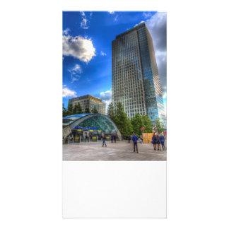 Canary Wharf Station London Personalised Photo Card