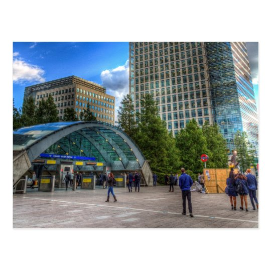 Canary Wharf Station London Postcard