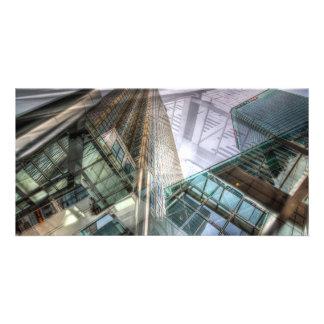 Canary Wharf Tower Abstracts Custom Photo Card