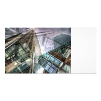 Canary Wharf Tower Abstracts Personalised Photo Card
