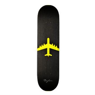 Canary Yellow Airplane Custom Skate Board