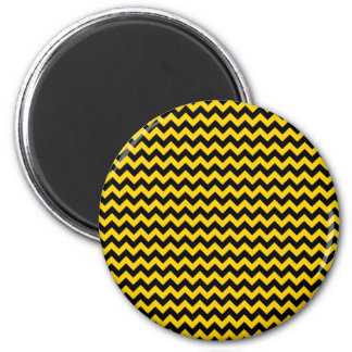 Canary Yellow And Black Zigzag Chevron Pattern Magnet