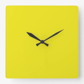 Canary Yellow Bright Fashion Color Trend 2014 Wall Clocks