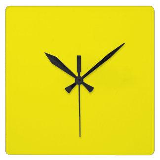 Canary Yellow Bright Fashion Colour Trend 2014 Wall Clocks