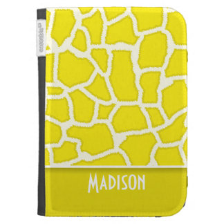 Canary Yellow Giraffe Animal Print Case For Kindle