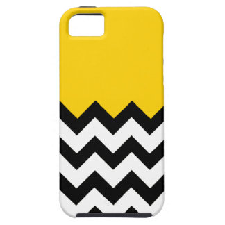 Canary Yellow Pattern On Large Zigzag Chevron Case For The iPhone 5