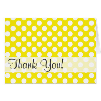 Canary Yellow Polka Dots Card