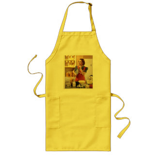 Canary yellow retro apron