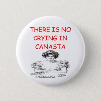 CANASTA 6 CM ROUND BADGE