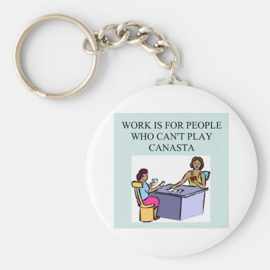 canasta game players) key ring