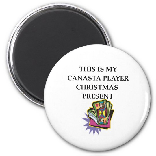 canasta gift 6 cm round magnet