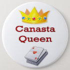 Canasta Queen 3 6 Cm Round Badge