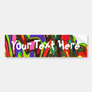Canberra Abstract Gifts Bumper Sticker