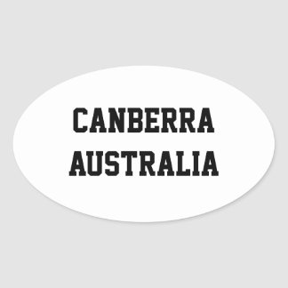 Canberra Australia oval stickers