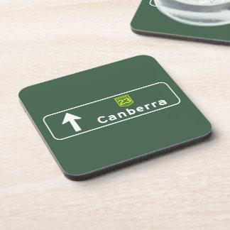 Canberra Australia Road Sign Drink Coaster