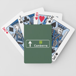 Canberra Australia Road Sign Bicycle Card Deck