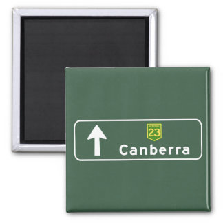 Canberra, Australia Road Sign Square Magnet