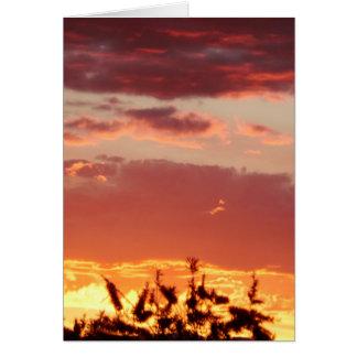 Canberra, Australia sunset. Card